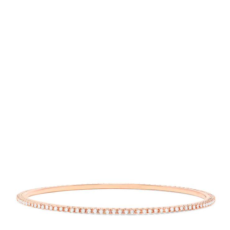 Effy 14K Rose Gold Diamond Slim Bangle, 1.03 TCW