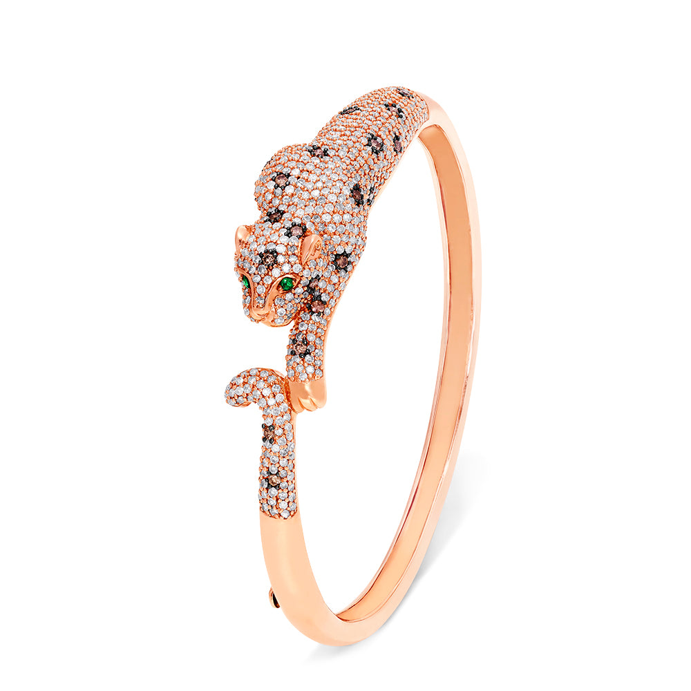 Effy Signature 14K Rose Gold Diamond and Emerald Bangle, 3.46 TCW