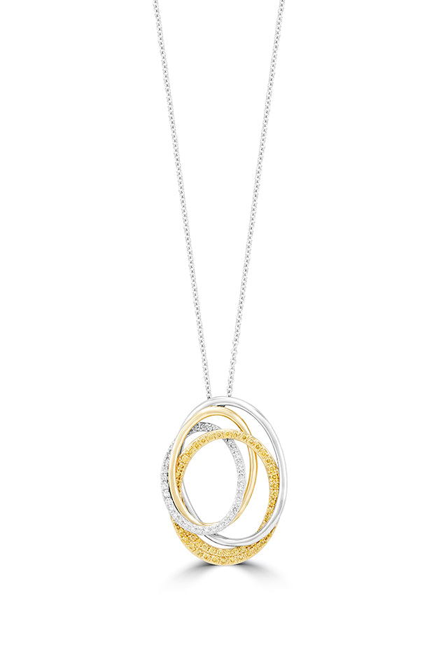 Effy Canare 14K 2-Tone Gold Yellow and White Diamond Pendant, 0.45 TCW