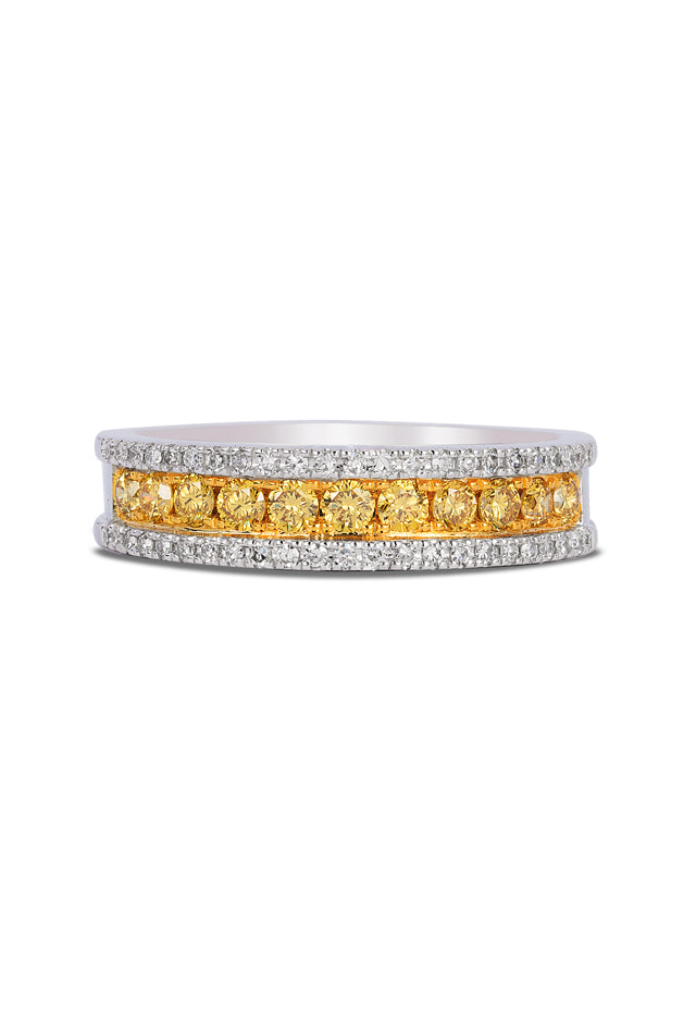 Effy Canare 14K Two Tone Gold Yellow and White Diamond Ring, 0.58 TCW