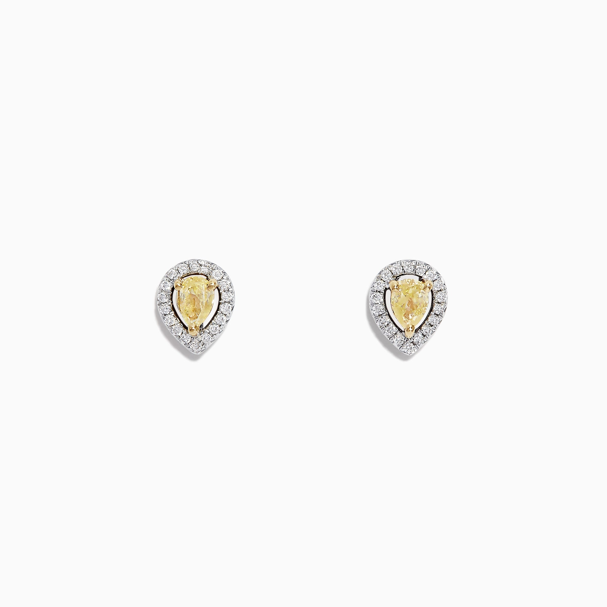 Effy Canare 18K Two Tone Gold Yellow and White Diamond Earrings, 0.36 TCW