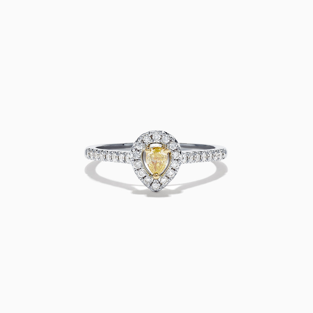 Effy Canare 18K Two Tone Gold Yellow and White Diamond Ring, 0.36 TCW