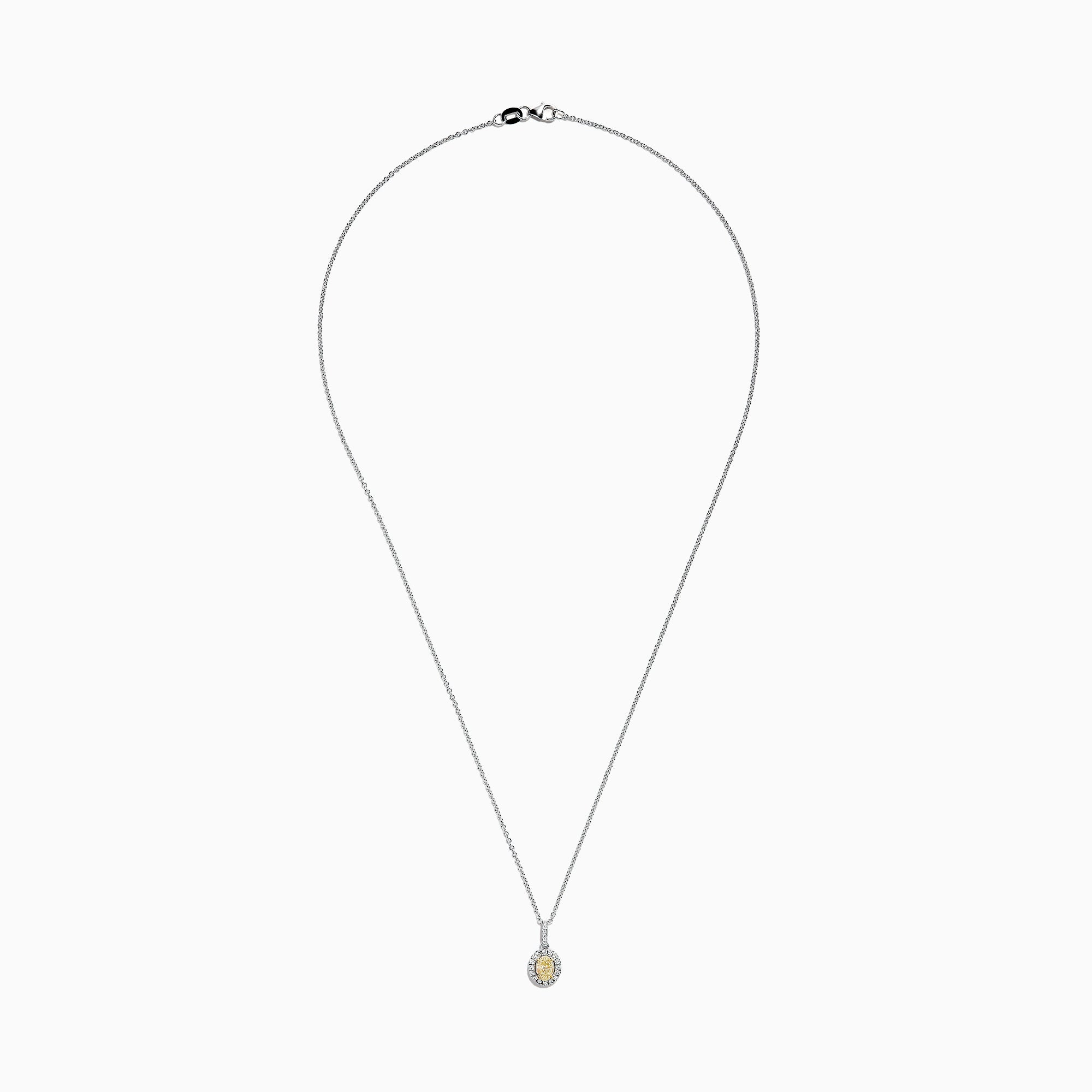 Effy Canare 18K Two-Tone Gold Yellow and White Diamond Pendant, 0.46 TCW