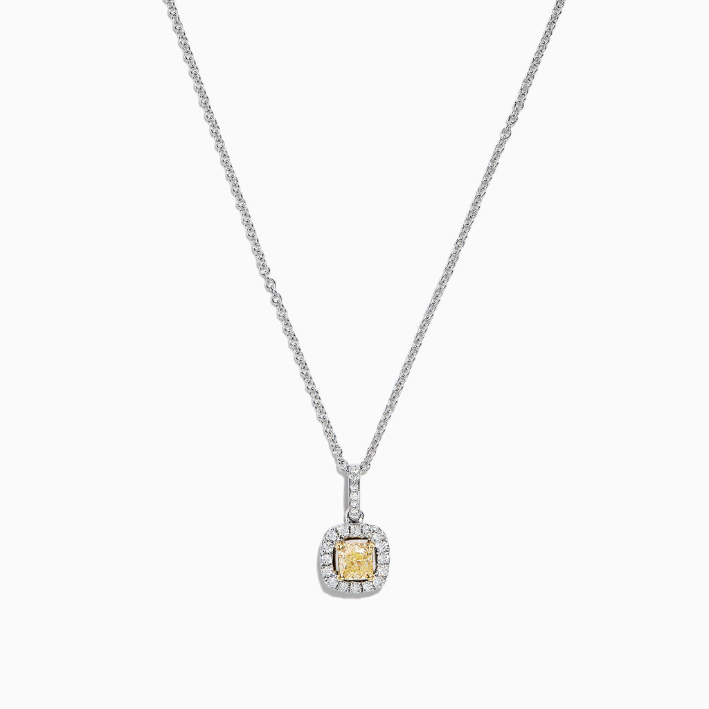 Effy Canare 18K Two-Tone Gold Yellow and White Diamond Pendant, 0.52 TCW