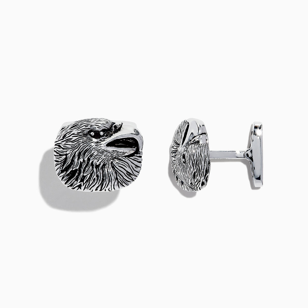 Effy Men's Sterling Silver Eagle Head Cuff Links