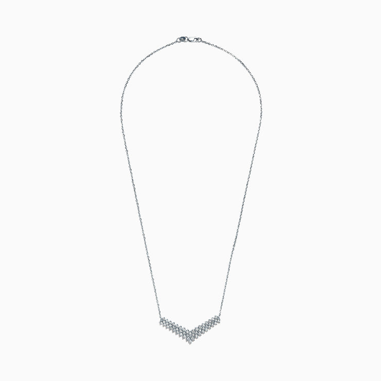 Effy 925 Sterling Silver Diamond Necklace, 0.47 TCW