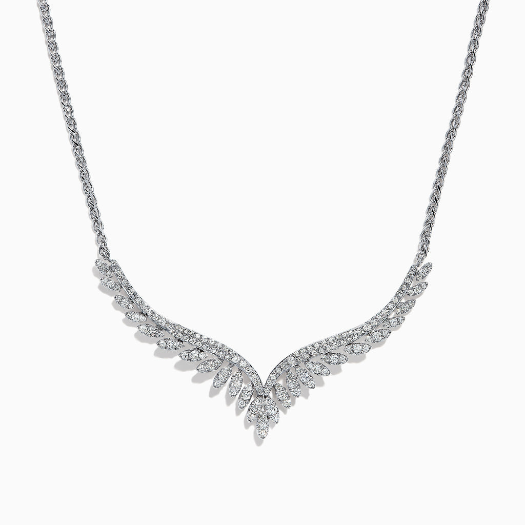 Effy Pave Classica 14K White Gold Diamond Necklace, 0.76 TCW