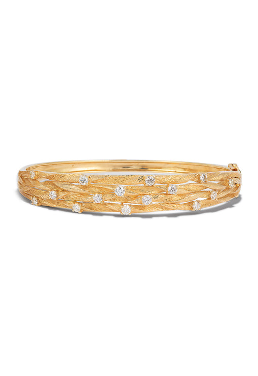 Effy D'Oro 14K Yellow Gold Diamond Bangle, 1.01 TCW
