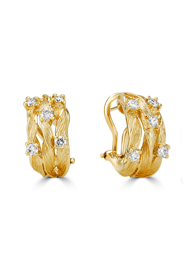 Effy D'Oro 14K Yellow Gold Diamond Earrings, 0.69 TCW