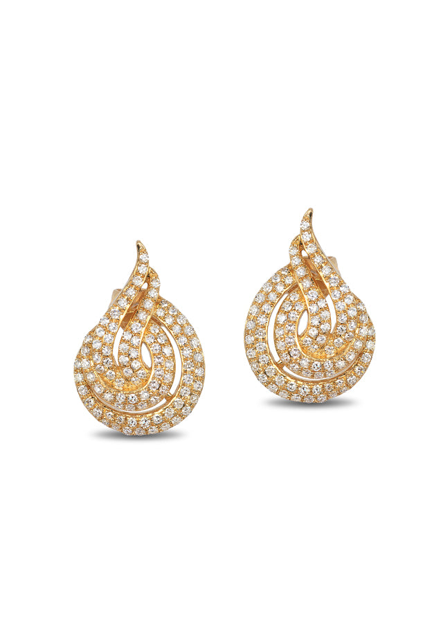 Effy D'Oro 14K Yellow Gold Diamond Earrings, 0.67 TCW