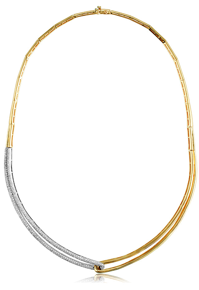 Effy Duo 14K Yellow and White Gold Diamond Necklace, 1.37 TCW
