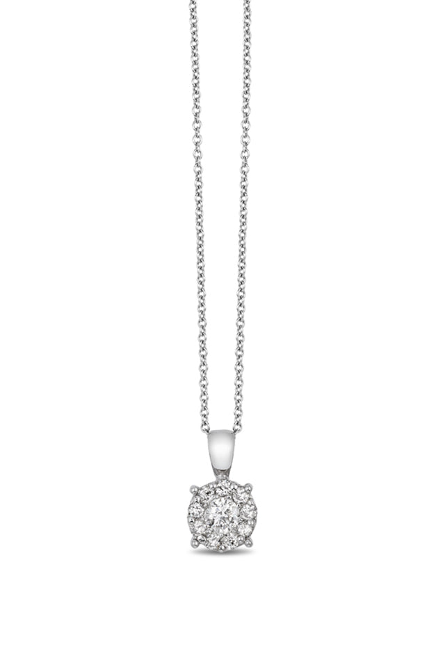 Effy Bouquet 14K White Gold Diamond Cluster Pendant, 0.47 TCW