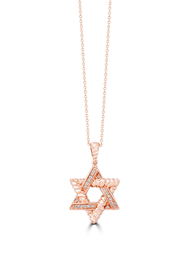 Effy Rosa 14K Rose Gold Diamond Star of David Pendant, 0.10 TCW