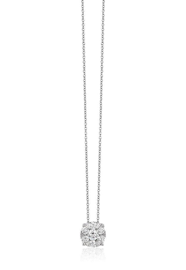 Effy Bouquet 14K White Gold Diamond Cluster Pendant, 0.27 TCW