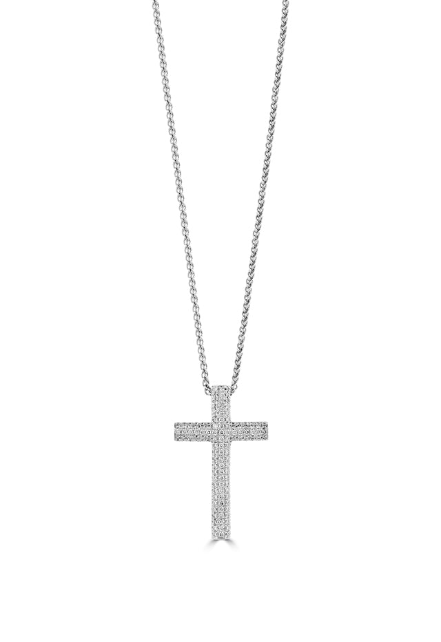 Effy Pave Classica 14K White Gold Diamond Cross Pendant, 0.51 TCW
