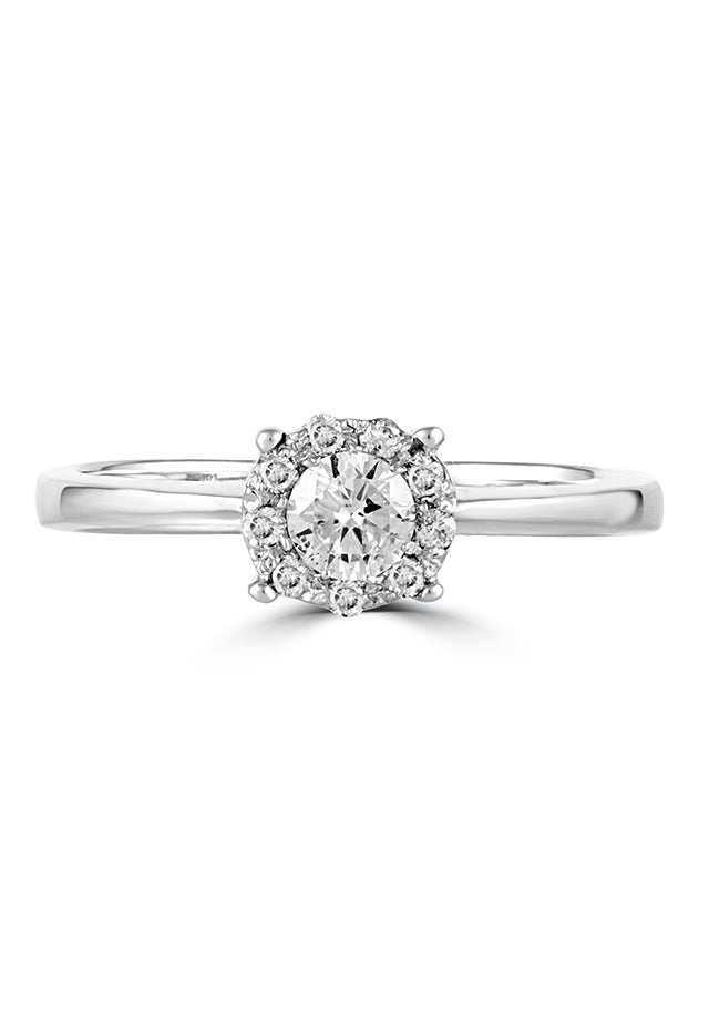 Effy Bouquet 14K White Gold Diamond Cluster Engagement Ring, 0.33 TCW