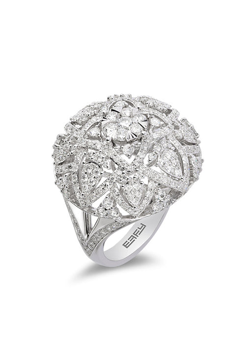 Pave Classica 14K White Gold Diamond Ring, 1.65 TCW