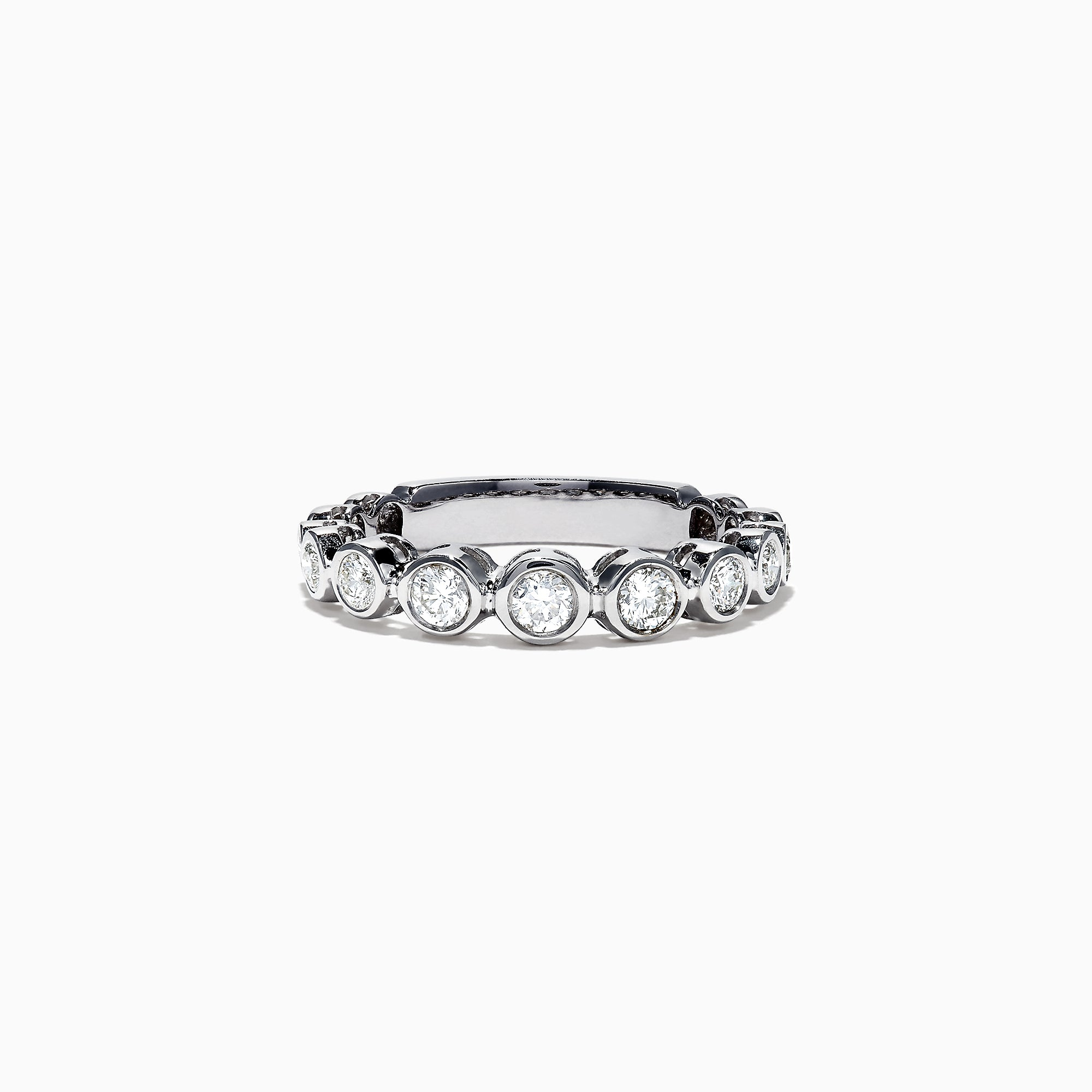 Effy Pave Classica 14K White Gold Bezel Set Diamond Ring, 0.49 TCW