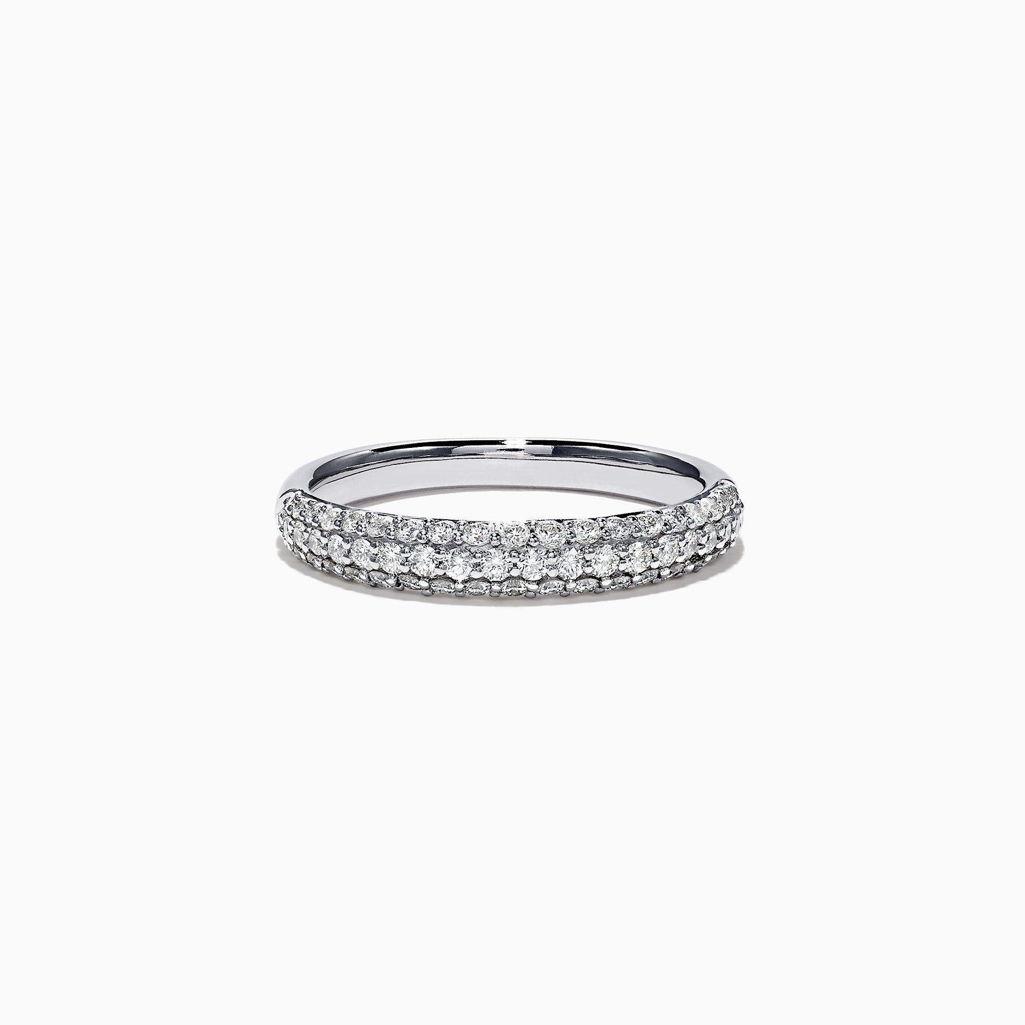 Effy Pave Classica 14K White Gold Diamond Ring, 0.54 TCW
