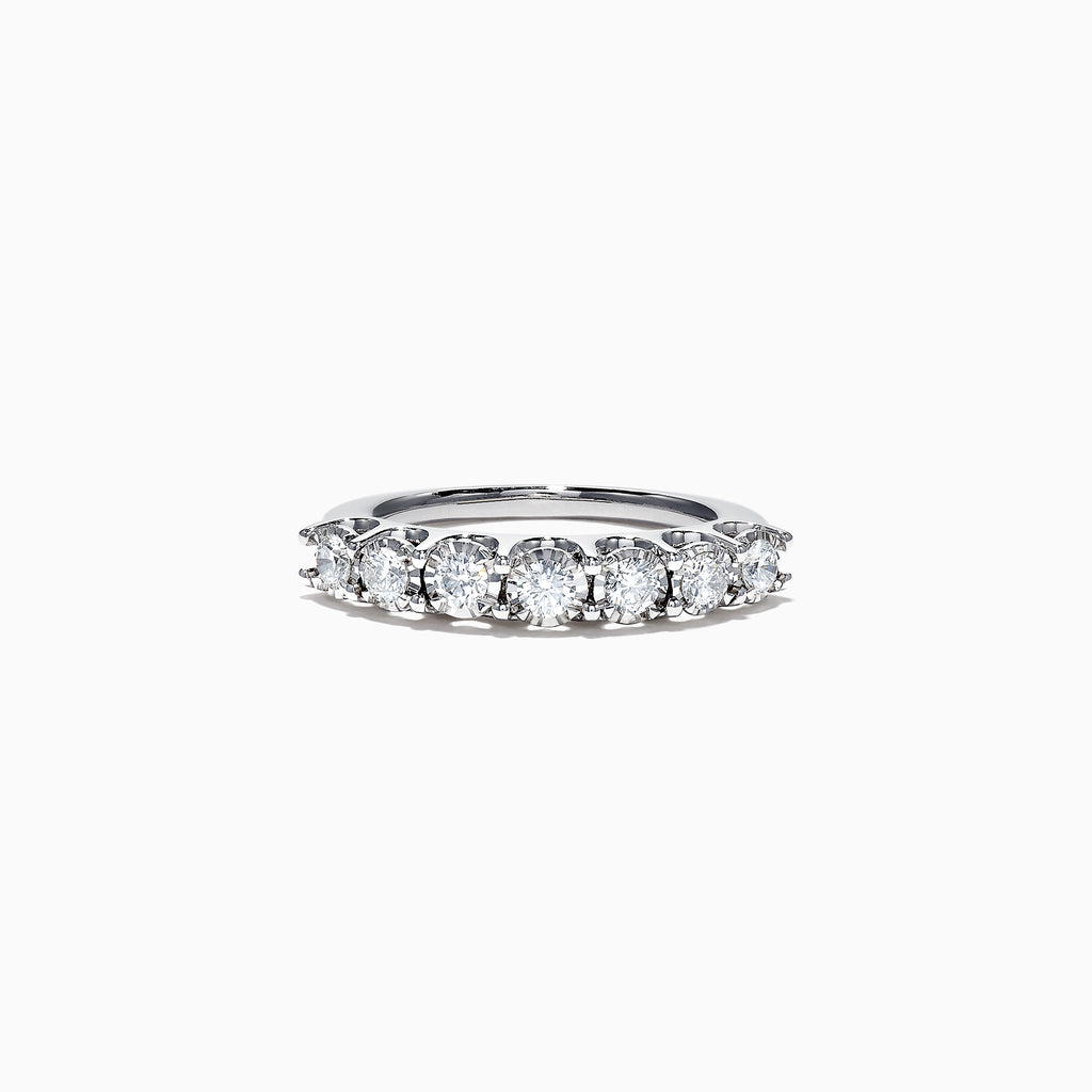 Effy 14K White Gold Diamond Band, 0.58 TCW