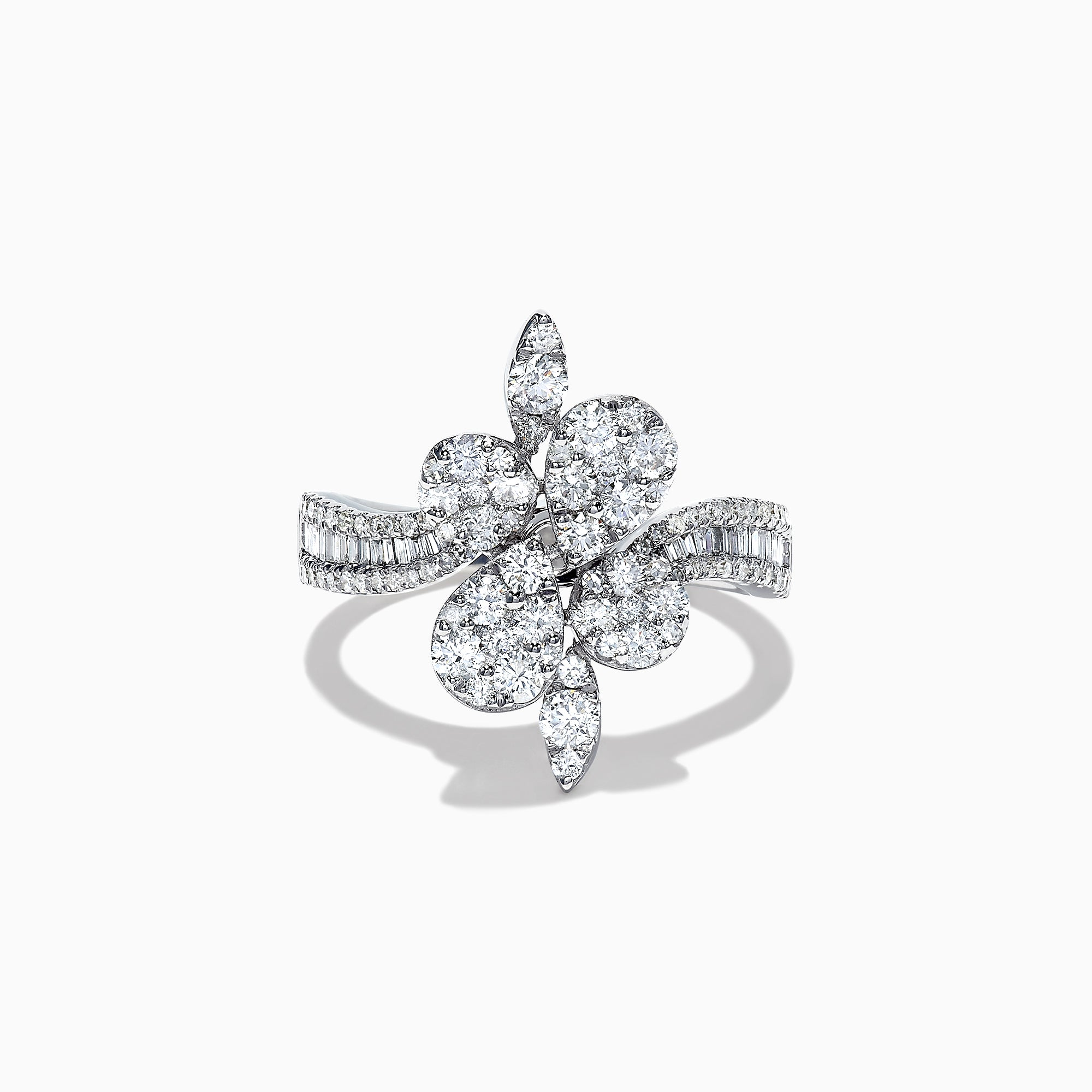Effy Pave Classica 14K White Gold Diamond Ring, 1.27 TCW