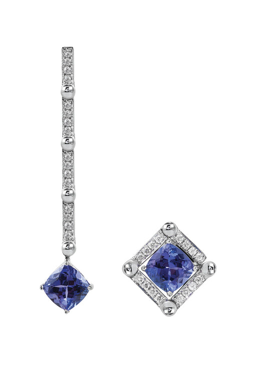 Diversa 14K White Gold Tanzanite & Diamond Earrings