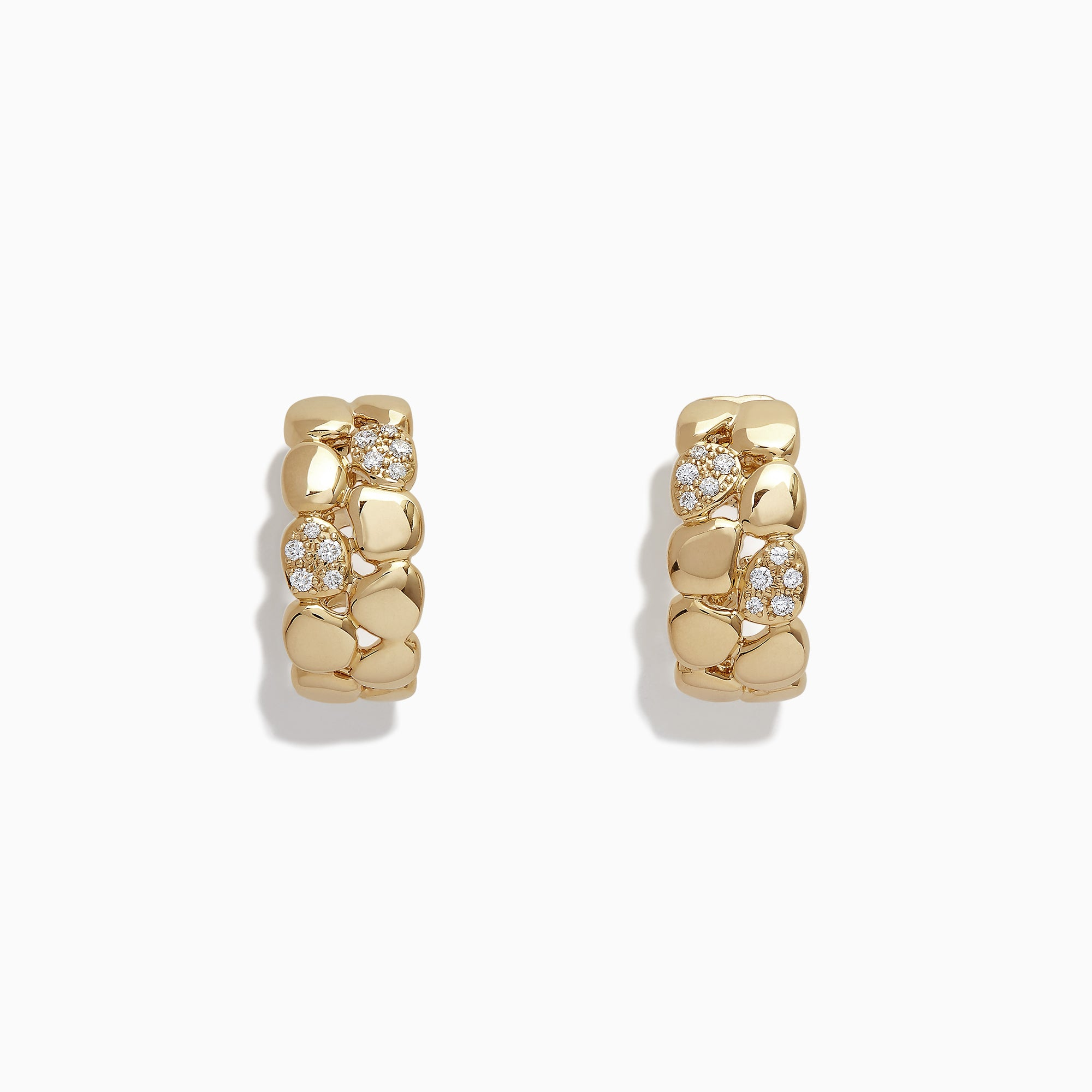 Effy D'Oro 14K Yellow Gold Diamond Earrings, 0.17 TCW