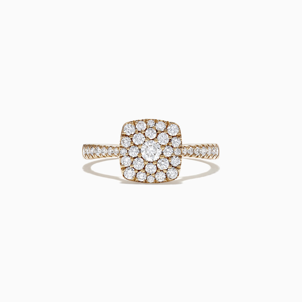 Effy D'Oro 14K Yellow Gold Diamond Pave Ring, 0.63 TCW