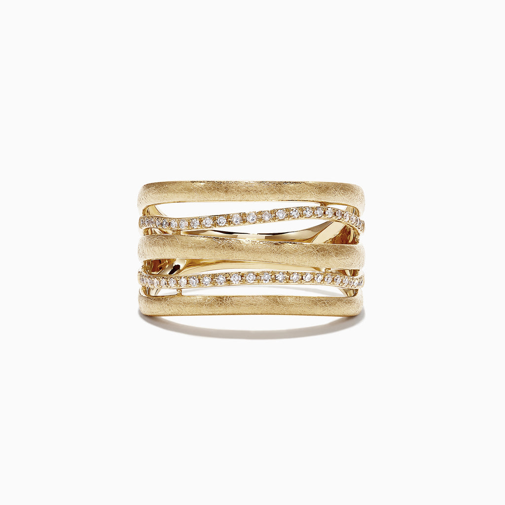 Effy D'Oro 14K Yellow Gold Diamond Ring, 0.20 TCW