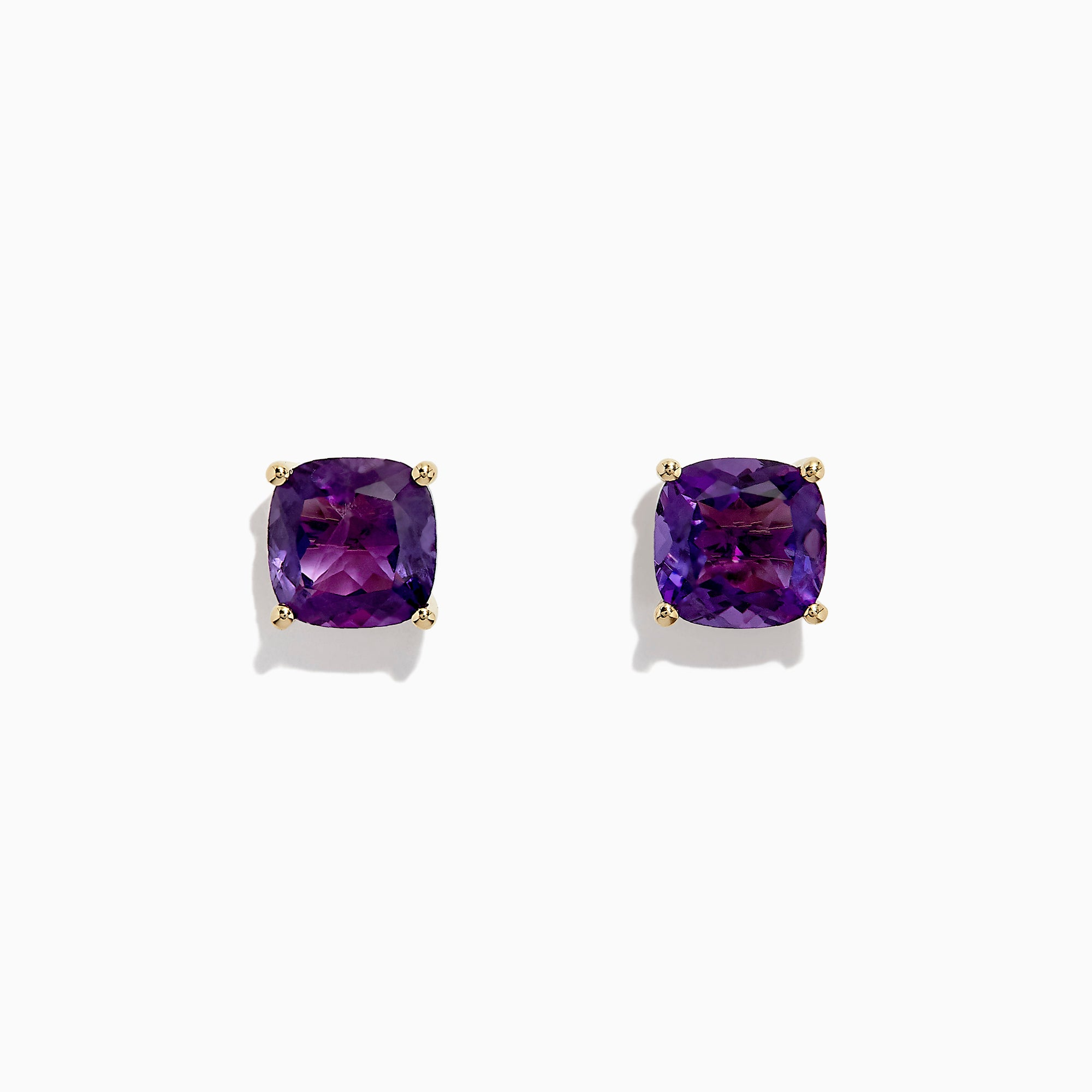 Effy 14K Yellow Gold Amethyst Stud Earrings, 4.25 TCW
