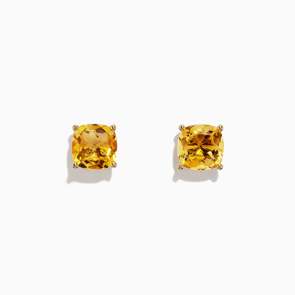 Effy Sunset 14K Yellow Gold Citrine Stud Earrings, 3.45 TCW
