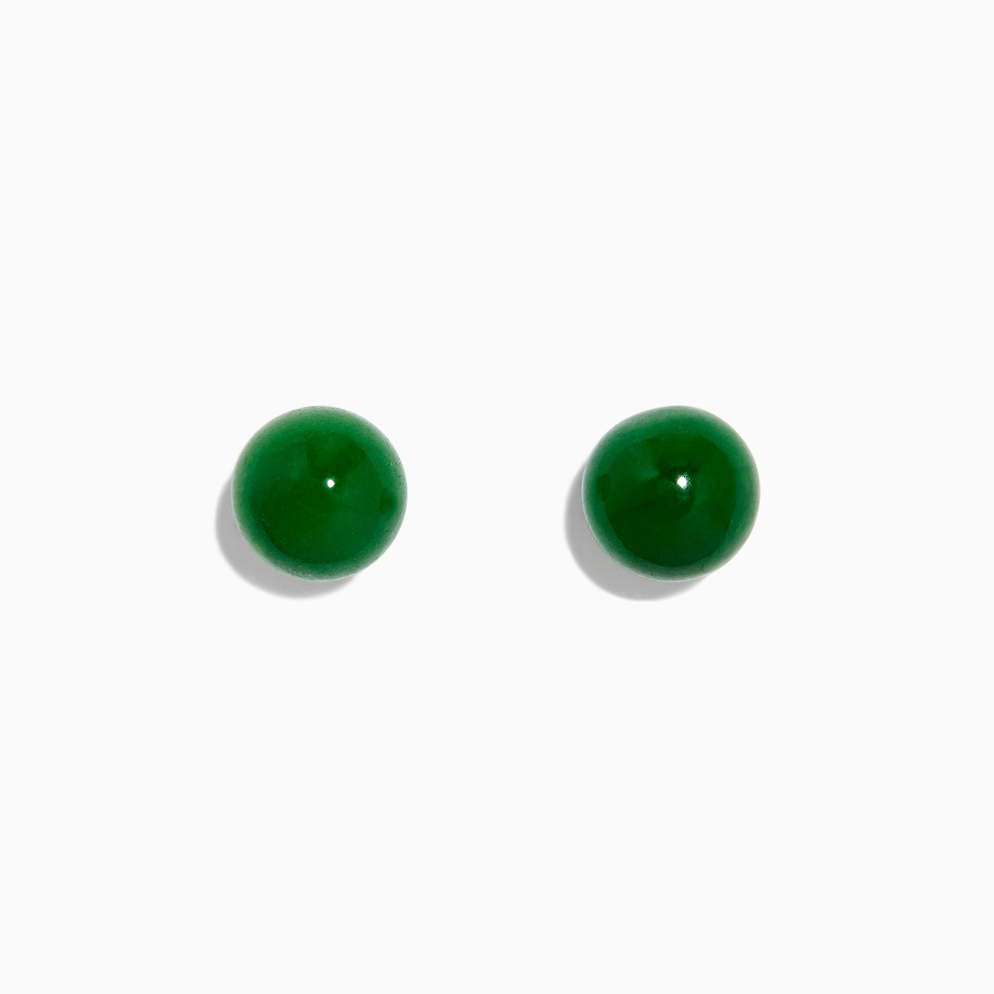 Effy 14K Yellow Gold Jade Stud Earrings, 18.70 TW