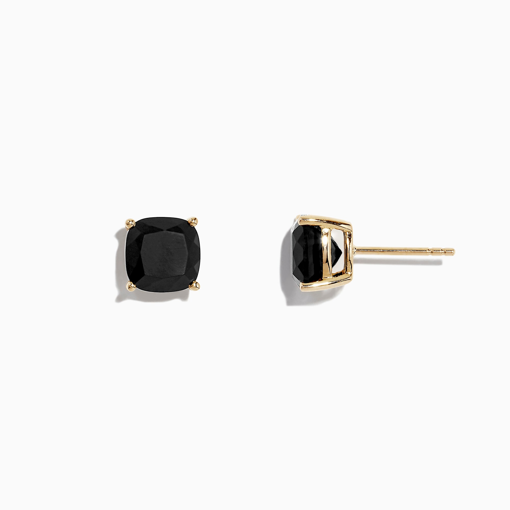 Effy Eclipse 14K Yellow Gold Onyx Stud Earrings, 4.80 TCW