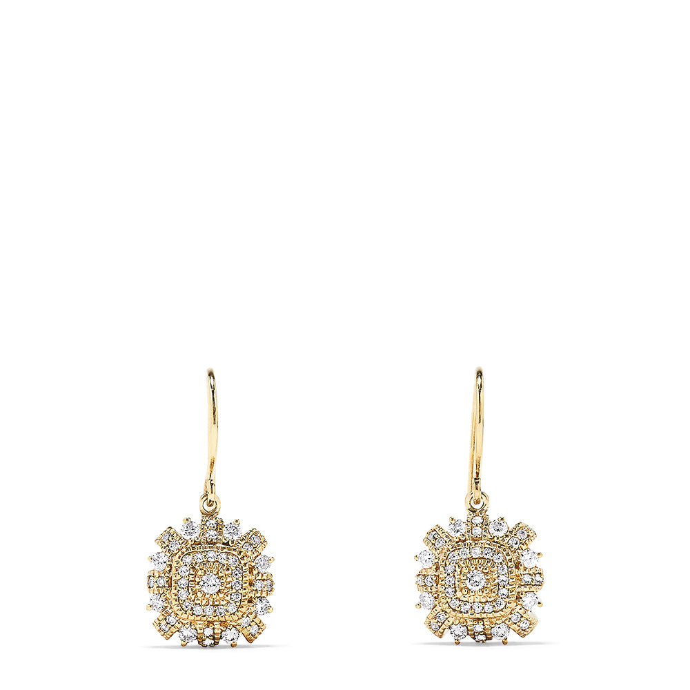 Effy 14K Yellow Gold Diamond Earrings, 0.72 TCW