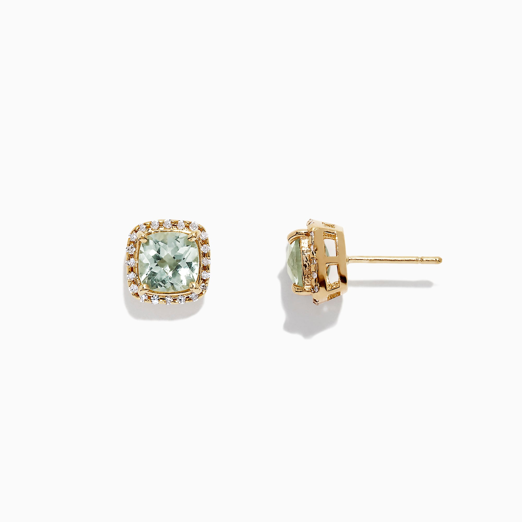 Effy 14K Yellow Gold Green Amethyst Stud Earrings, 1.86 TCW