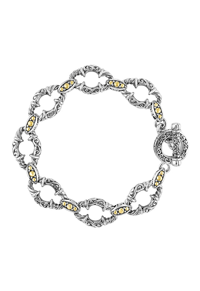 Effy 925 Sterling Silver and 18K Yellow Gold Accents Bracelet