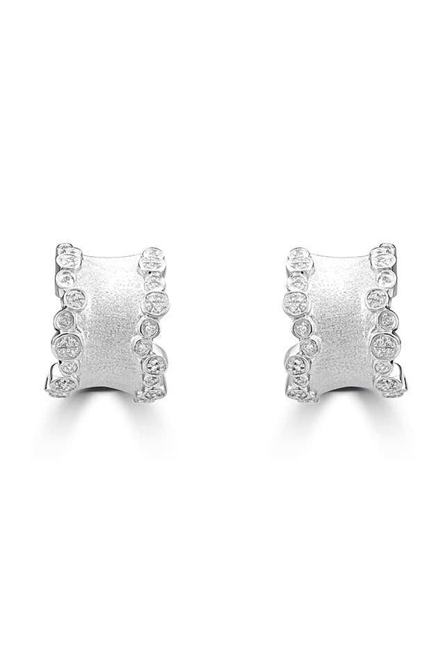 Effy 925 Sterling Silver Diamond Earrings, 0.28 TCW