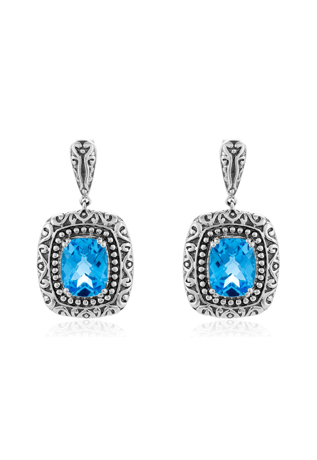 Effy 925 Sterling Silver Blue Topaz Earrings, 4.94 TCW