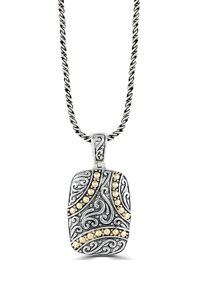 Effy 925 Sterling Silver and 18K Yellow Gold Accents Pendant