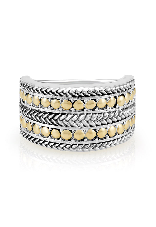 Effy 925 Sterling Silver and 18K Yellow Gold Accented Ring