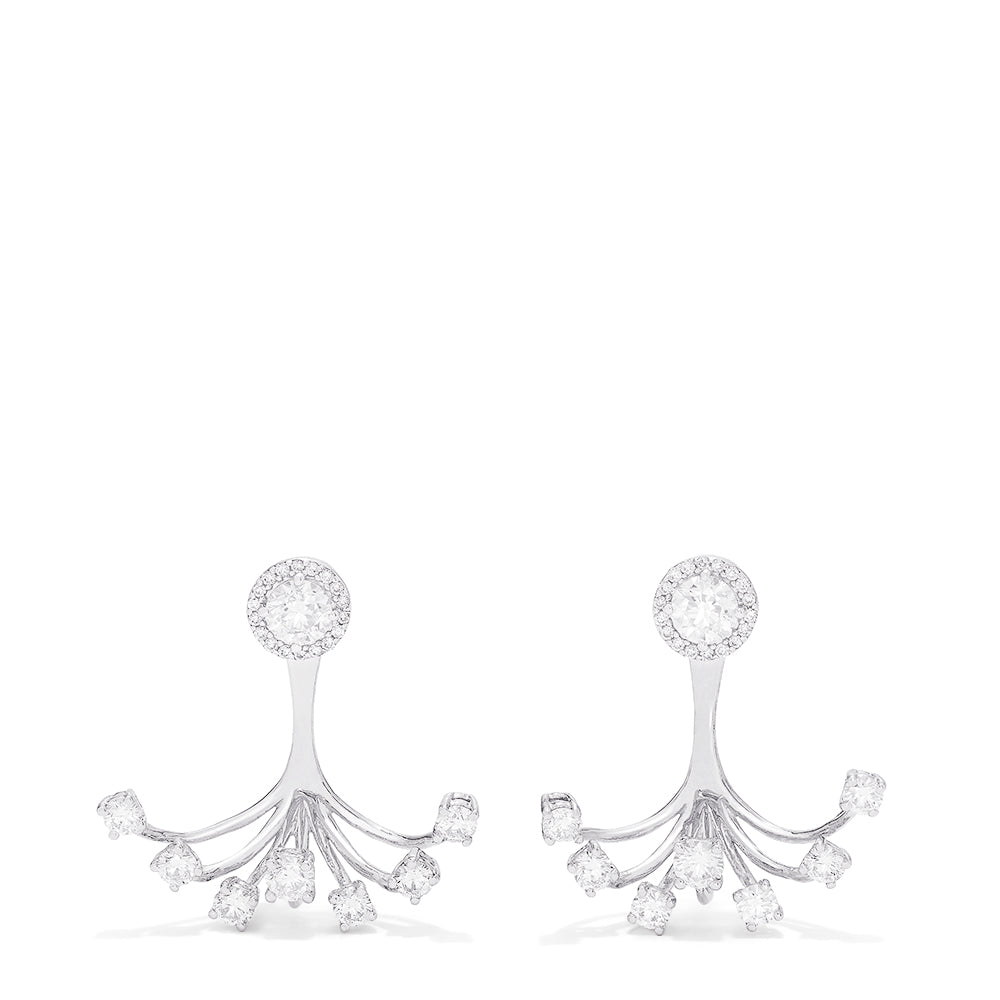 Effy Pave Classica 14K White Gold Ear Jackets, 2.72 TCW
