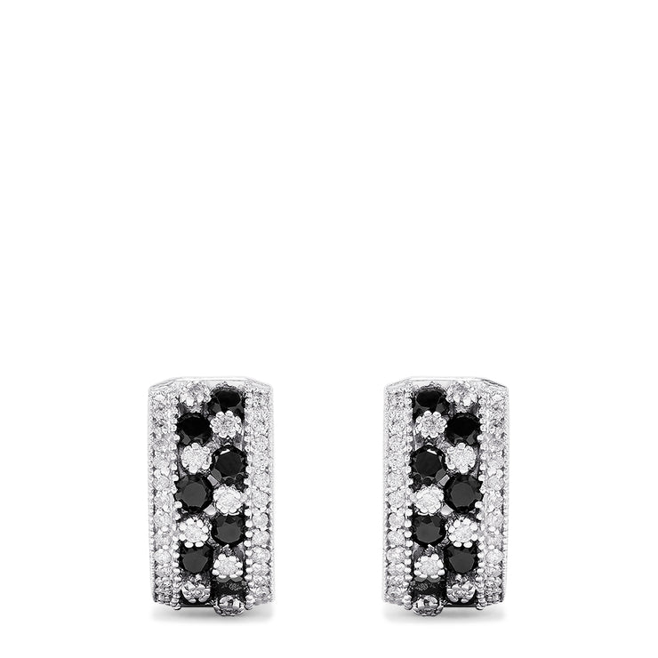 Effy 14K White Gold Black and White Diamond Earrings, 1.90 TCW