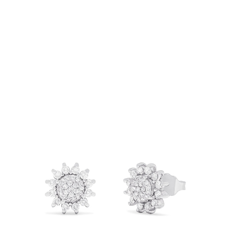 Effy 14K White Gold Diamond Stud Earrings, 0.83 TCW