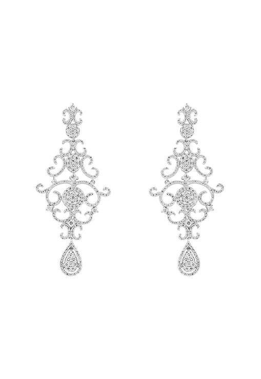 Effy 14K White Gold Diamond Chandelier Earrings, 2.68 TCW