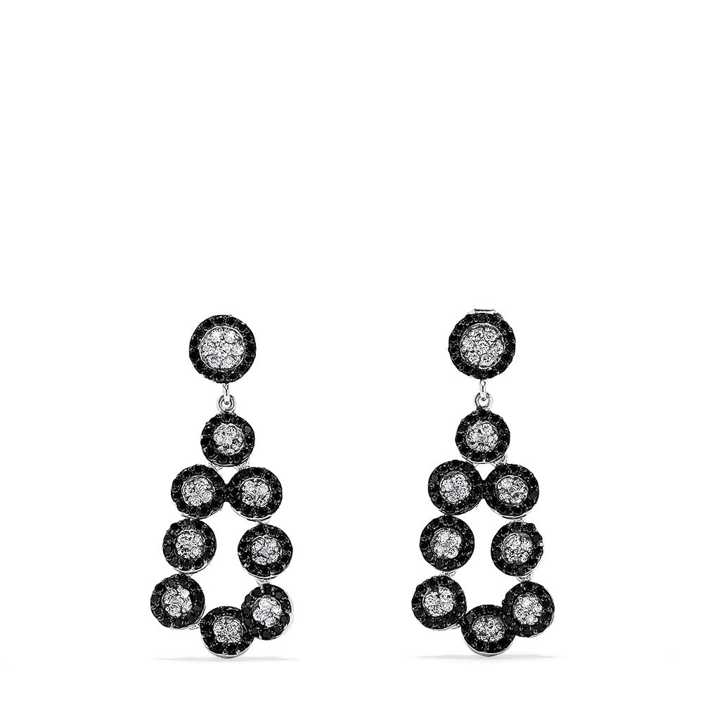 Effy 14K White Gold Black and White Diamond Earrings, 1.38 TCW