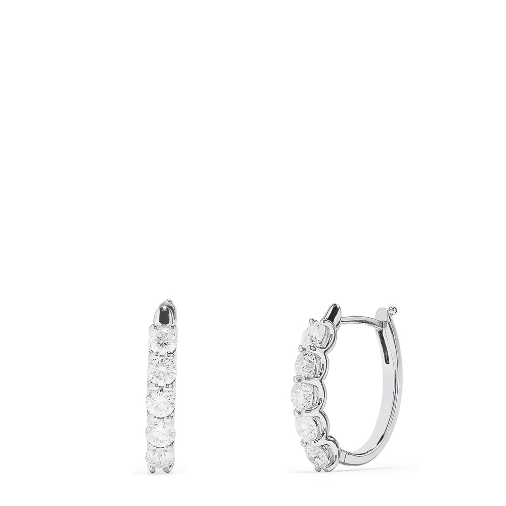 Effy 14K White Gold Prong Set Diamond Earrings, 1.47 TCW