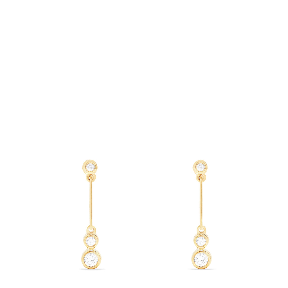Effy 14K Yellow Gold Diamond Dangle Earrings, 0.37 TCW