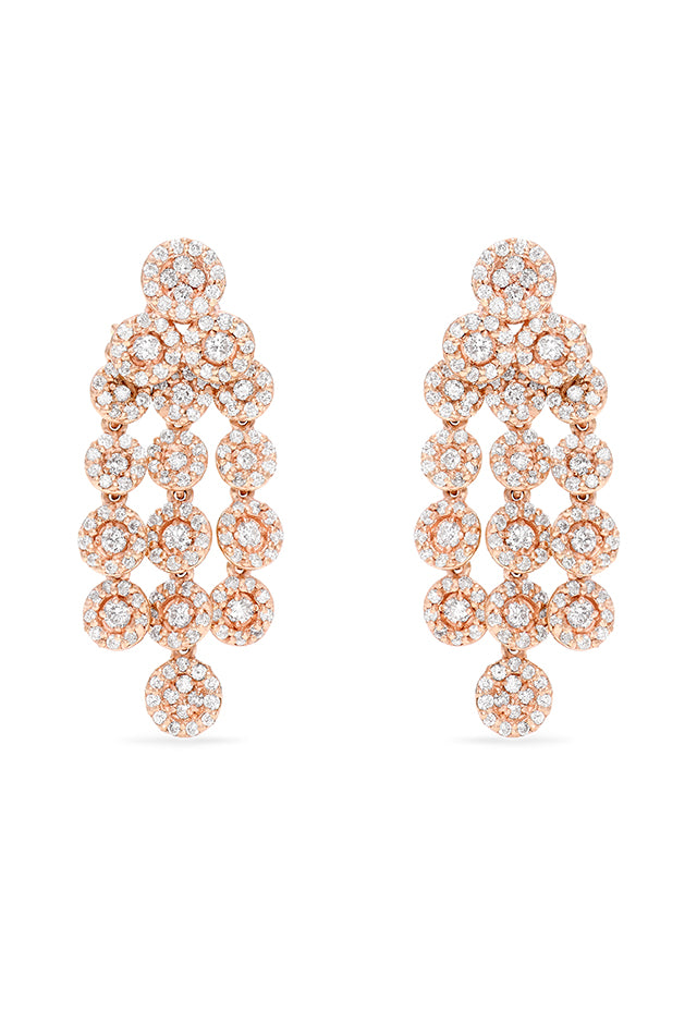 Effy 14K Rose Gold Diamond Chandelier Earrings, 1.55 TCW