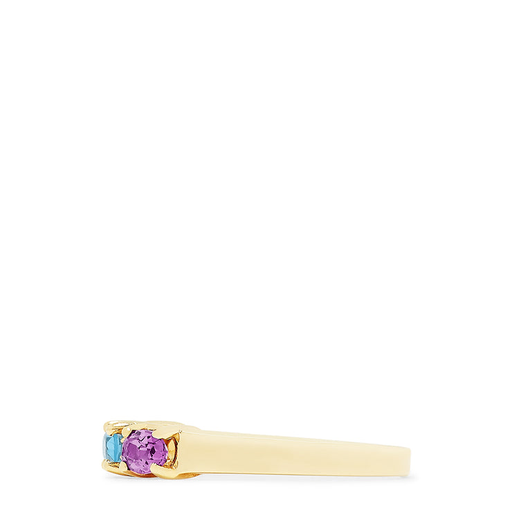 Effy 14K Yellow Gold Multi Gemstone and Diamond Ring, 0.93 TCW
