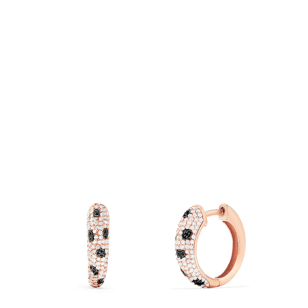 Effy Signature 14K Rose Gold Diamond Hoop Earrings, 0.72 TCW